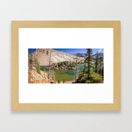 Colorado Pictures - Lake Agnes Framed Art Print