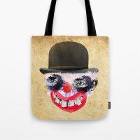 clown Tote Bags featuring Clown by Ahmet Hacıoğlu
