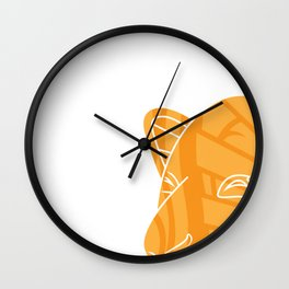 Tiki Kangaroo Wall Clock