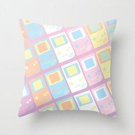 Pastel Gameboy Dreams Throw Pillow