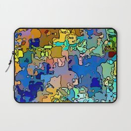 Abstract segmented 4 Laptop Sleeve