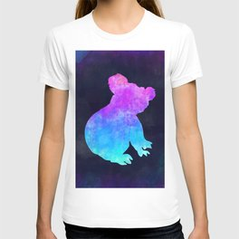 KOALA IN SPACE // Animal Graphic Art // Watercolor Canvas Painting // Modern Minimal Cute T-shirt