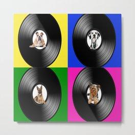 Hey Dogs Pop Art Metal Print