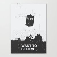 i want to believe Canvas Prints featuring I Want To Believe by Nicolas Beaujouan