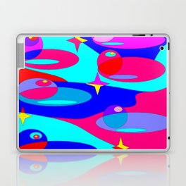 Planets and Stars in Jewel Tones Laptop & iPad Skin