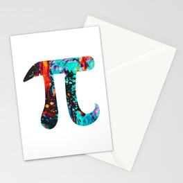 Watercolor Painting Pi Day Stationery Cards