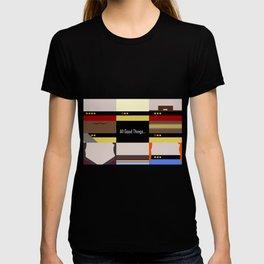 TNG - All Good Things - Minimalist Star Trek TNG The Next Generation 1701 D  startrek  Trektangles T-shirt