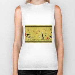 Cavemen yellow Biker Tank