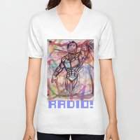 swim V-neck T-shirts featuring swim by RADIO