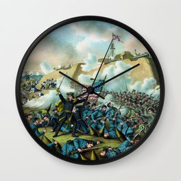 The Capture of Fort Fisher - Civil War Wall Clock