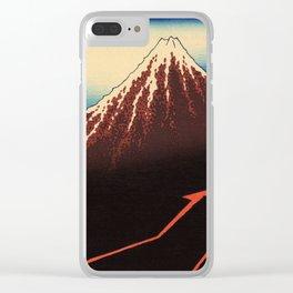 Rainstorm Beneath the Summit (Sanka hakū or 山下白雨) Clear iPhone Case