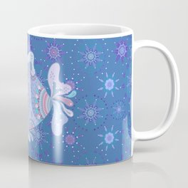 Purple Blue Touchy Fish Coffee Mug