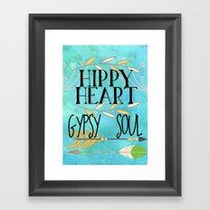 Hippy Heart Gypsy Soul Framed Art Print