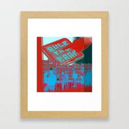 rule the brain Framed Art Print