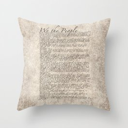 US Constitution - United States Bill of Rights Throw Pillow