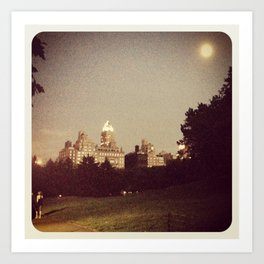 Central park at night... Art Print