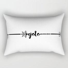 Yolo - tribal arrow Rectangular Pillow