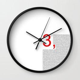Pi – 3,14 – Red Wall Clock