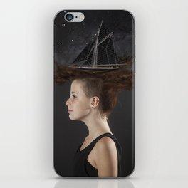 Sailing - Black iPhone Skin
