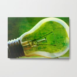 light bulb - think green Metal Print