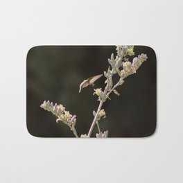 Hummingbird Drinking from Hesperaloe Parviflora Flower Bath Mat