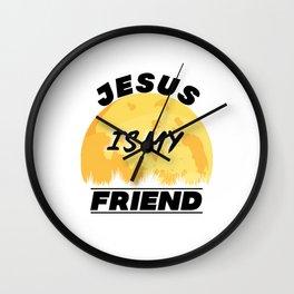 Jesus Is My Friend Bible Verse Quote Wall Clock