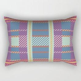 Setting Sun Plaid Rectangular Pillow