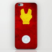 iron man iPhone & iPod Skins featuring Iron Man by theLinC