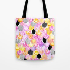 Citrus, Cotton Candy & Licorice Watercolor Scales Tote Bag