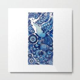 Blue Bird in Petrykivka Style Metal Print
