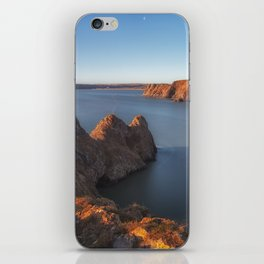Rugged Three Cliffs Bay and the Great Tor iPhone Skin