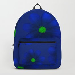 Blue Flowers Beautiful Pattern Backpack