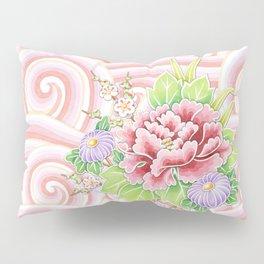 Pink Kimono Bouquet Pillow Sham