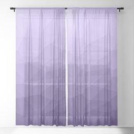 Ultra violet purple geometric mesh Sheer Curtain