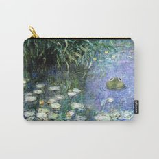 Water Lilies with Frog Carry-All Pouch