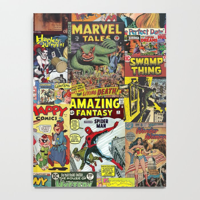 Comic Book Cover Collage Notebook