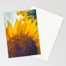 Sunflower Field In Late Summer Stationery Cards