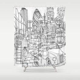 London! Shower Curtain