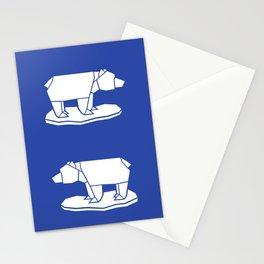 Origami Polar Bear Stationery Cards