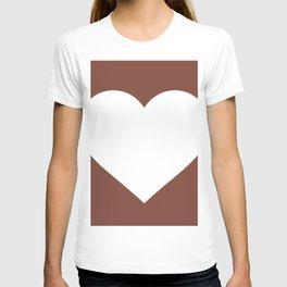 Heart (White & Brown) T-shirt