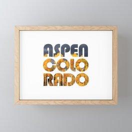 ASPEN COLORADO and Aspen Trees Framed Mini Art Print