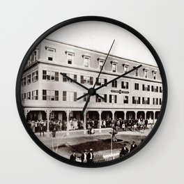 1880 Riverside Hotel, East Providence, Rhode Island Vintage Photograph Wall Clock