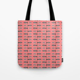 Little grey fishy - pink Tote Bag