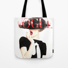 Vogue Magazine Cover. Frida Gustavsson. Fashion Illustration. Tote Bag