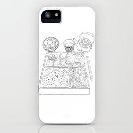 Japanese Bento Box - Line Art iPhone Case