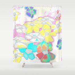 White Spring Shower Curtain