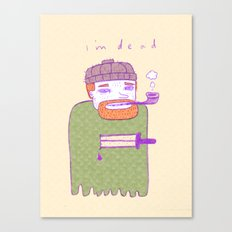 dead guy irl Canvas Print