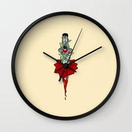 Rose Dagger Wall Clock