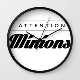 Attention Minions Inverted Wall Clock