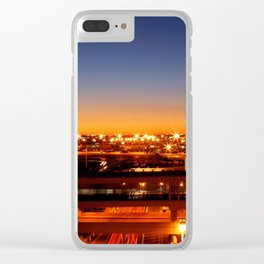 Airport Sunset Time Lapse Clear iPhone Case